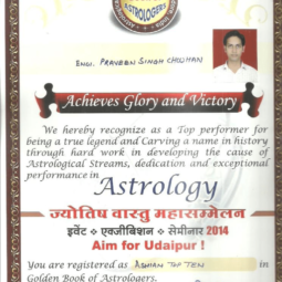 Registered as Asian Top ten in <br> Golden Book of Astrologer